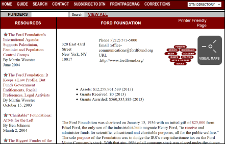 Discover the Networks The Ford Foundation