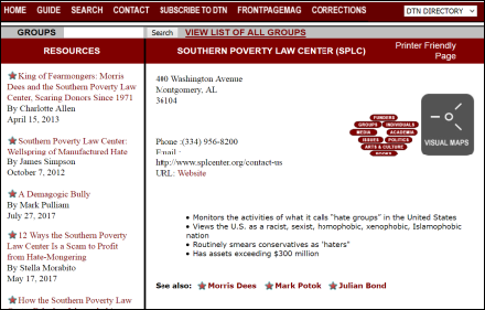 Discover the Networks SPLC
