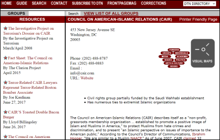 Discover the Networks CAIR Islamists