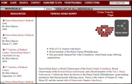 Discover the Networks Heinz Endowments